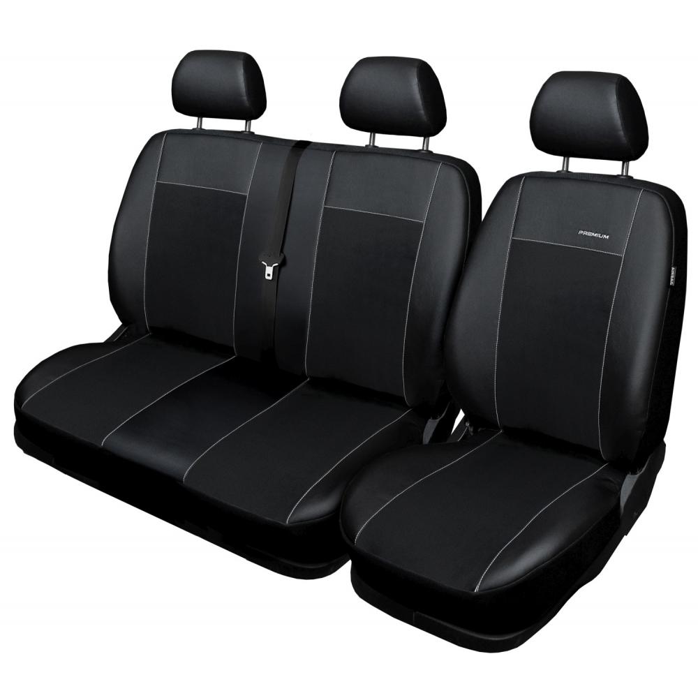 Autopotahy Citroen Jumper II, 3 místný, od r. 2006, Eco kůže + alcantara černé