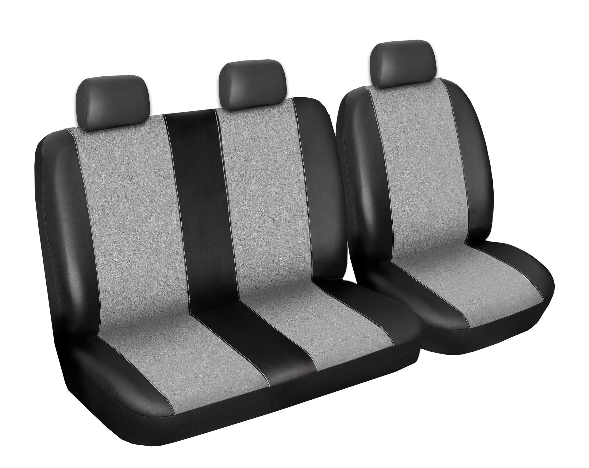 Autopotahy Citroen Jumper I, 3 místný, do r. 2006, Eco kůže + alcantara šedé