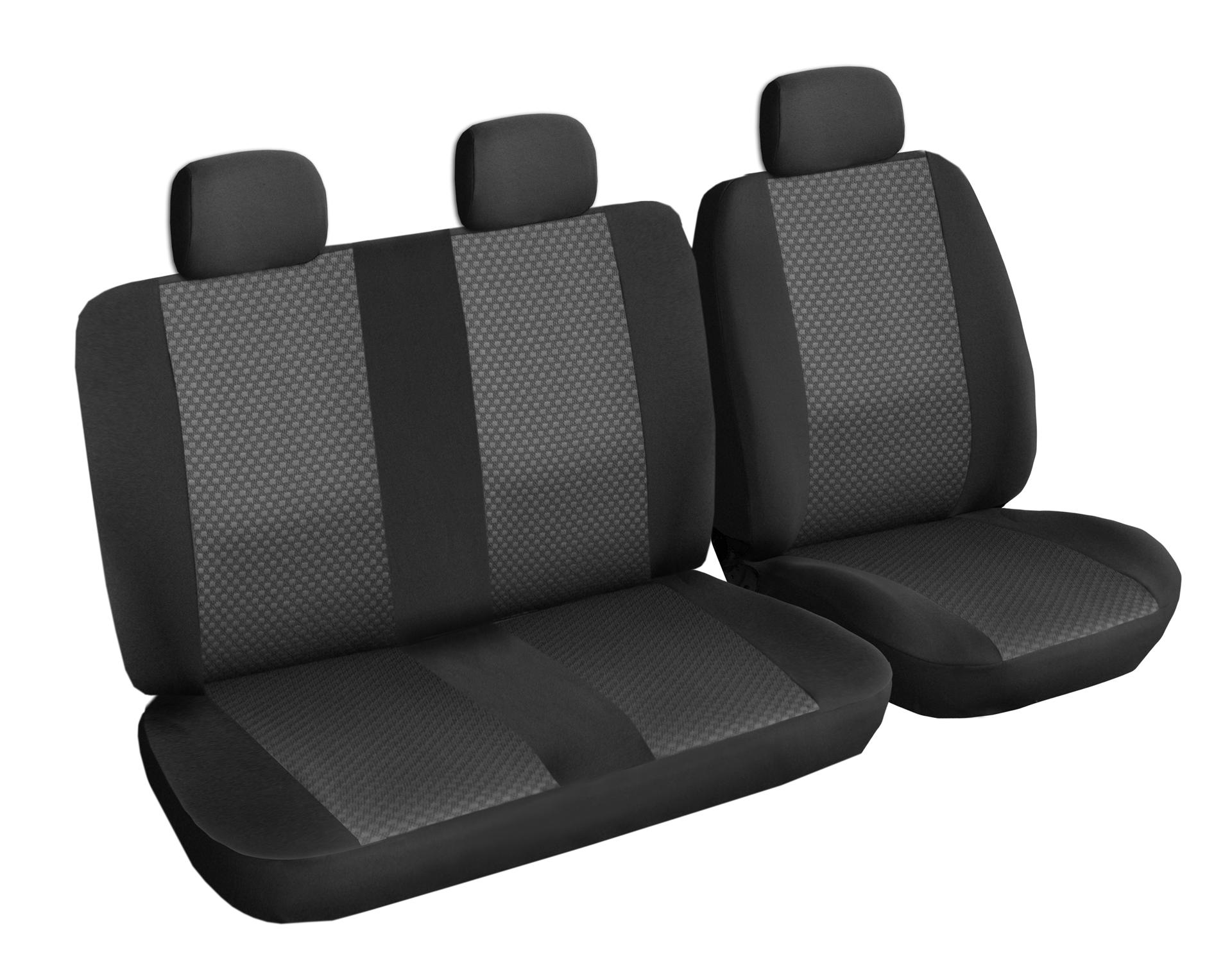 Autopotahy Citroen Jumpy III, 3 místa, BEZ STOLKU, od r. 2016, černé