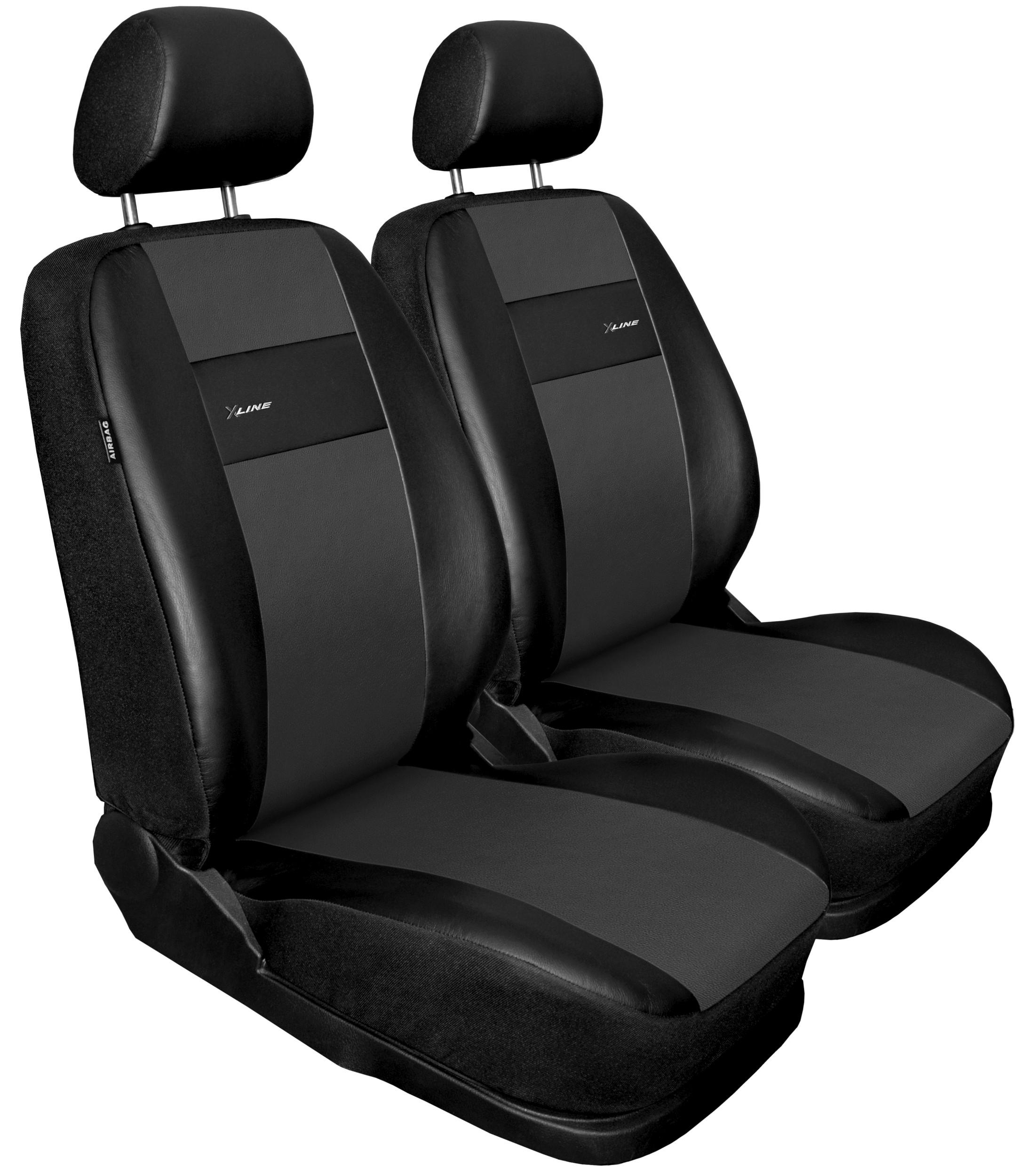 Autopotahy X-LINE kožené, sada pro dvě sedadla, šedé