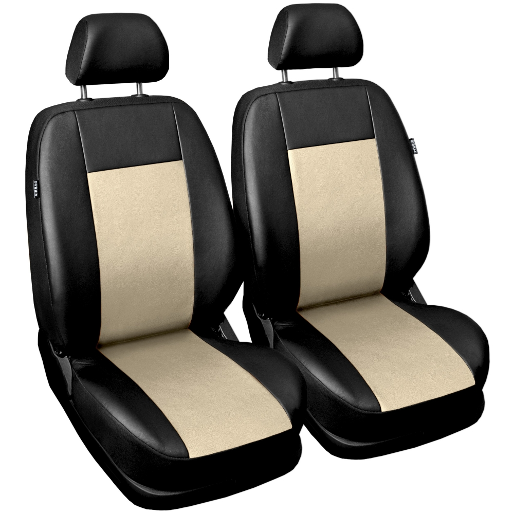 Autopotahy COMFORT kožené, sada pro dvě sedadla, béžové
