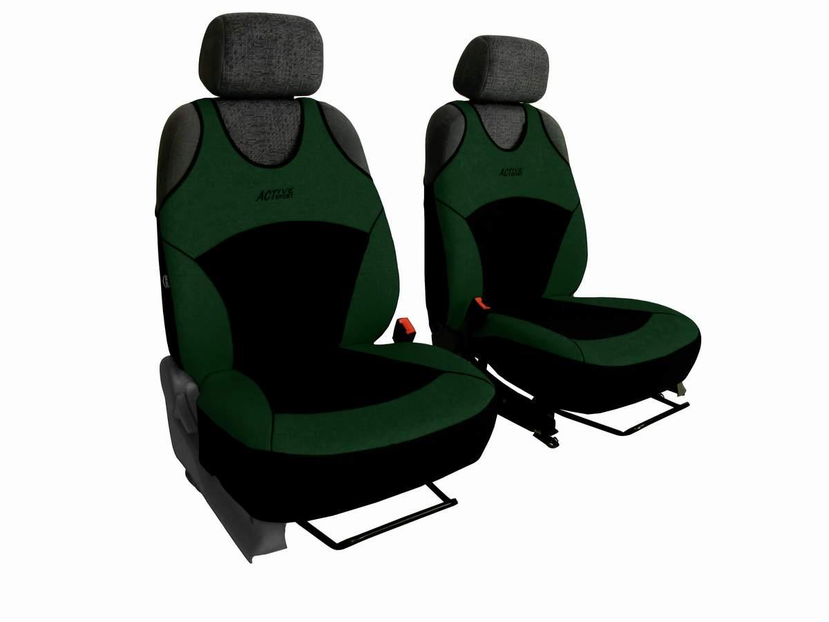 Autopotahy Active Sport Alcantara, sada pro dvě sedadla, zelené