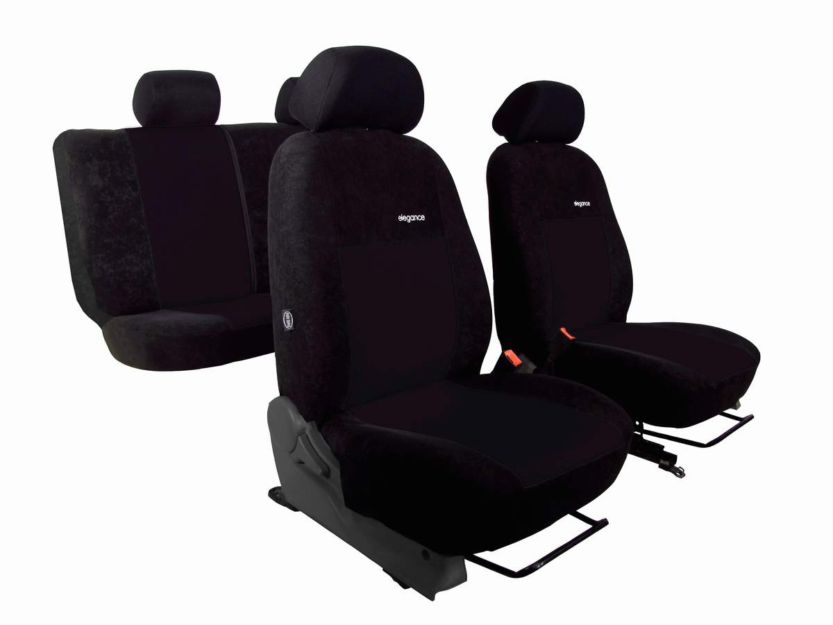 Autopotahy Volkswagen VW Crafter, 3 místa,stolek, ELEGANCE ALCANTARA, černé