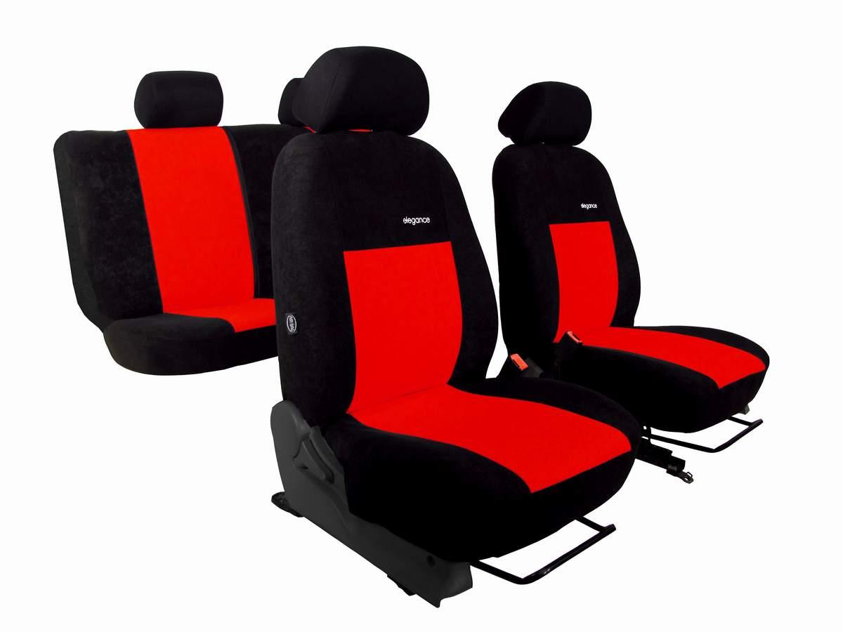 Autopotahy Volkswagen VW Crafter, 3 místa,stolek, ELEGANCE ALCANTARA, červené