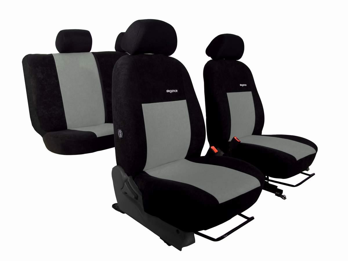 Autopotahy Volkswagen VW Crafter, 3 místa,stolek, ELEGANCE ALCANTARA, šedé