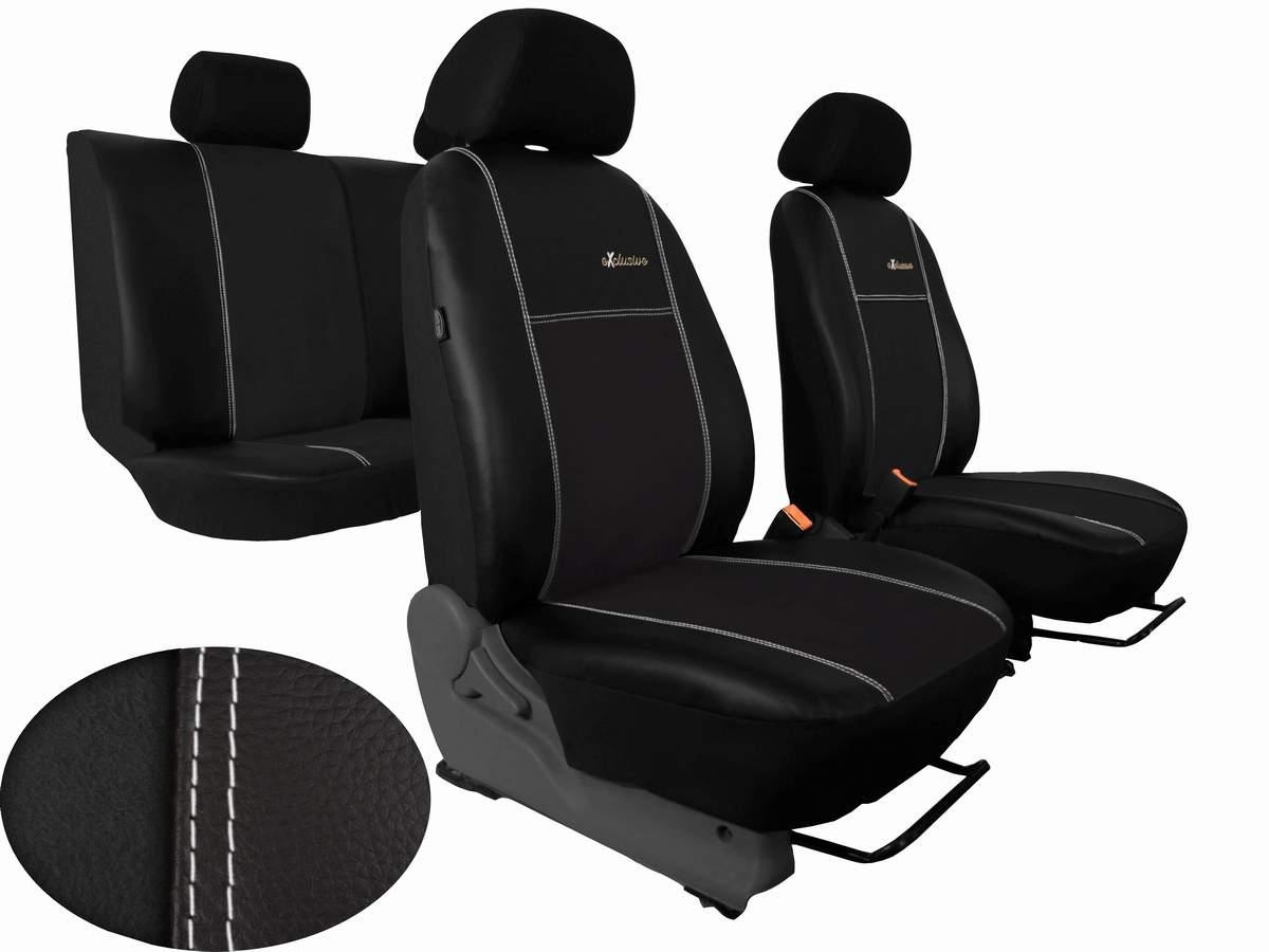 Autopotahy Peugeot Boxer II, 3 místa, stolek, EXCLUSIVE kožené s alcantarou, černé