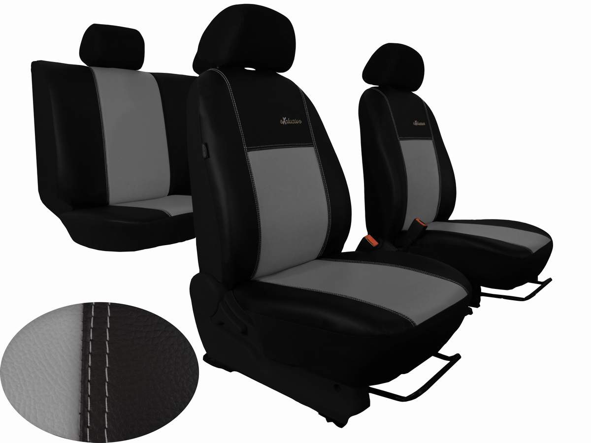 Autopotahy Peugeot Boxer II, 3 místa, stolek, kožené EXCLUSIVE, šedé