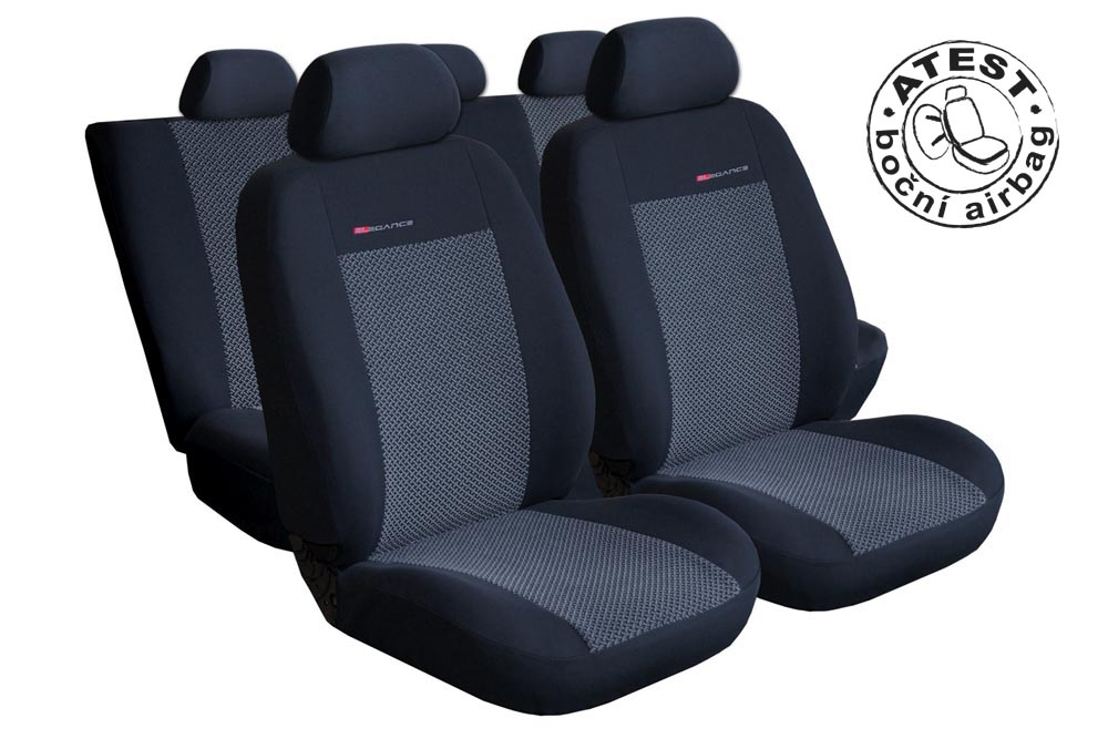 Autopotahy Seat Ibiza IV, od r. 2008, šedo černé