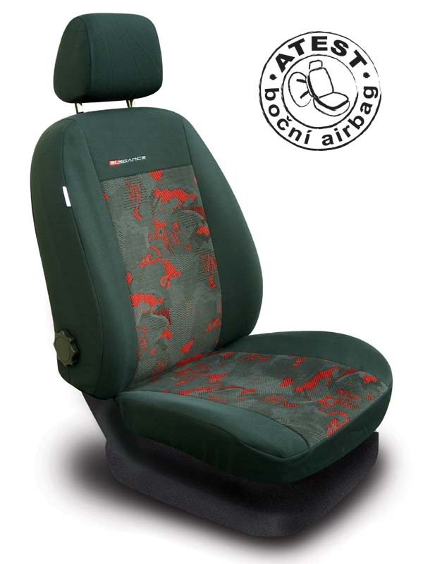 Autopotahy Škoda Octavia I, dělená, červené