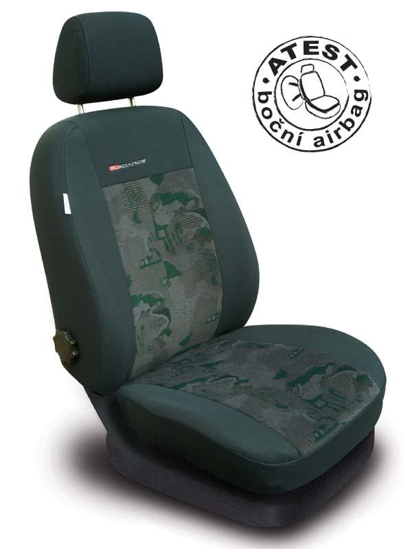 Autopotahy Škoda Roomster, 5 míst, zelené