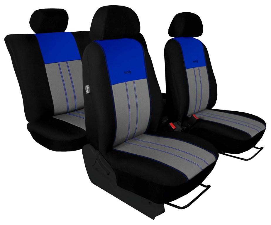 Autopotahy Škoda Octavia III, Tuning Duo, bez zadní loketní opěrky, modrošedé