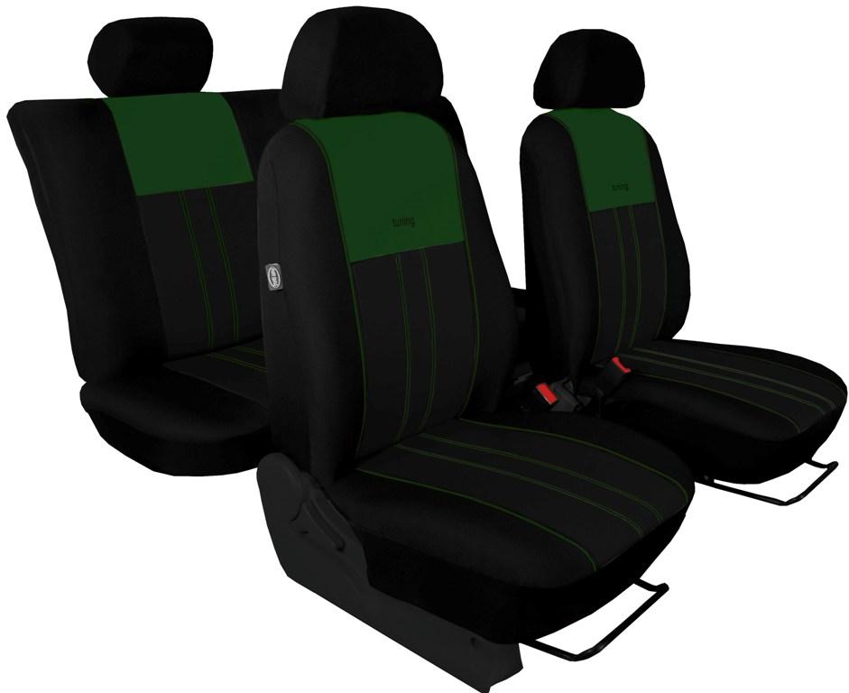 Autopotahy VOLKSWAGEN T-ROC, od r. 2017, DUE zeleno černé