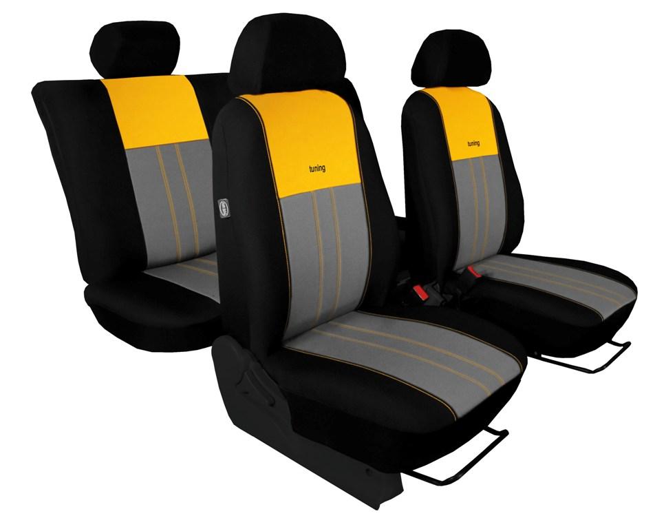 Autopotahy VW TIGUAN II COMFORTLINE, od r. v. 2016, DUO žluto šedé