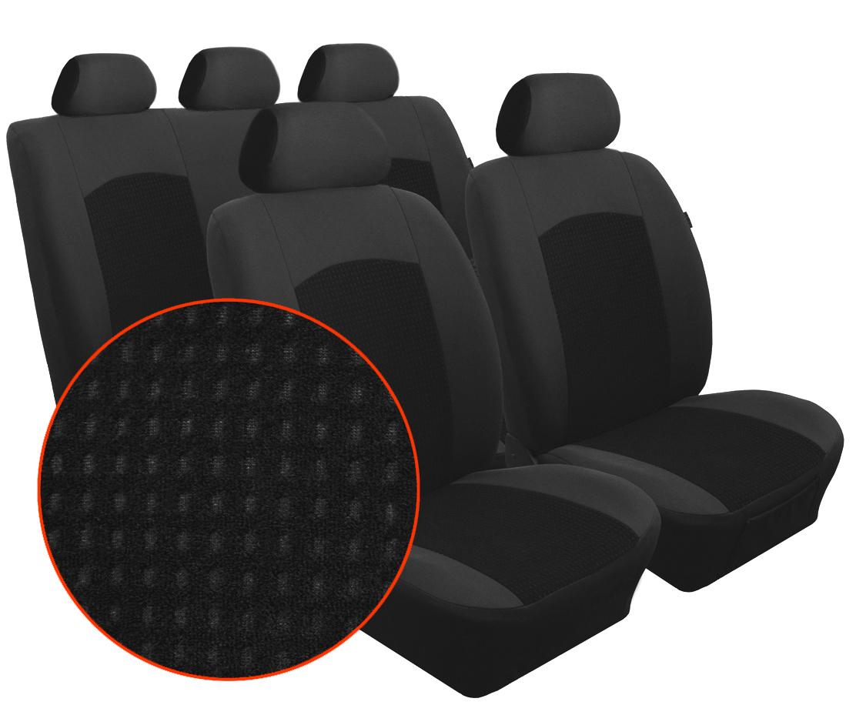 Autopotahy CITROEN JUMPER II, 3 místa, od r. 2006, Dynamic velur černý
