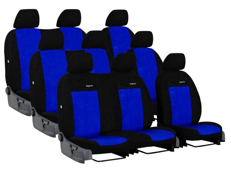 Autopotahy FORD TRANSIT VII, 9 míst, NEDĚLENÁ ZADNÍ OPĚRADLA, od r. 2014, Elegance modré