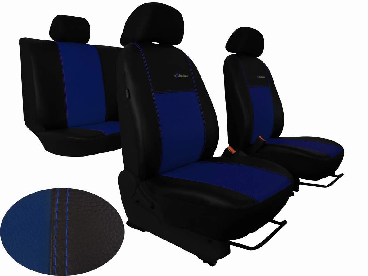 Autopotahy VW TIGUAN II COMFORTLINE, od r. v. 2016, EXCLUSIVE kůže modré