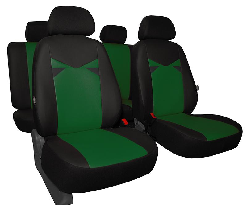 Autopotahy kožené EYES, zelené