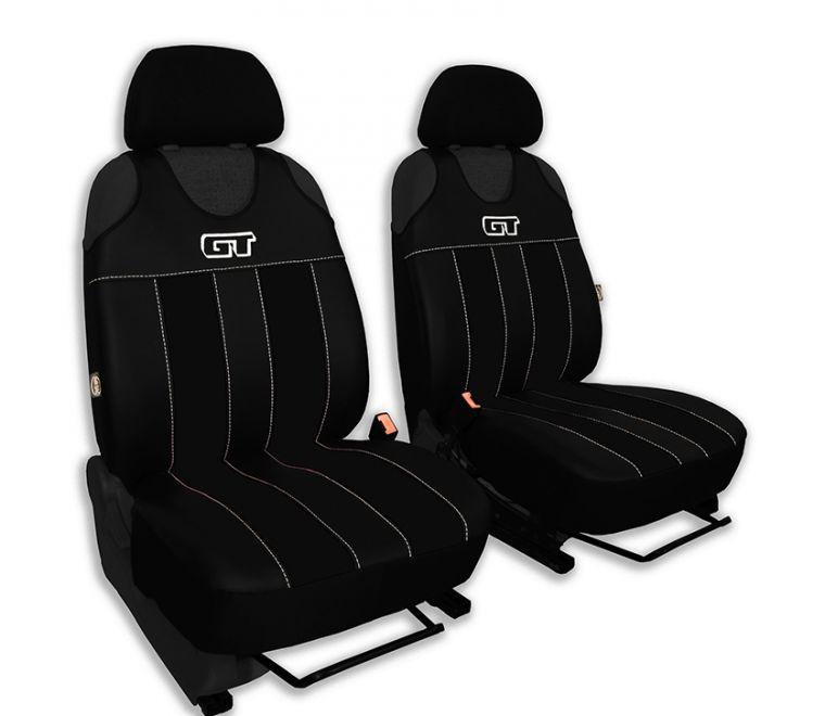 Autopotahy GT kožené, sada pro dvě sedadla, černé