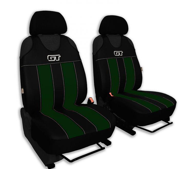 Autopotahy GT kožené, sada pro dvě sedadla, zelené