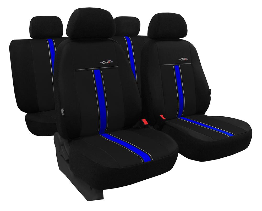 Autopotahy kožené GTR černomodré