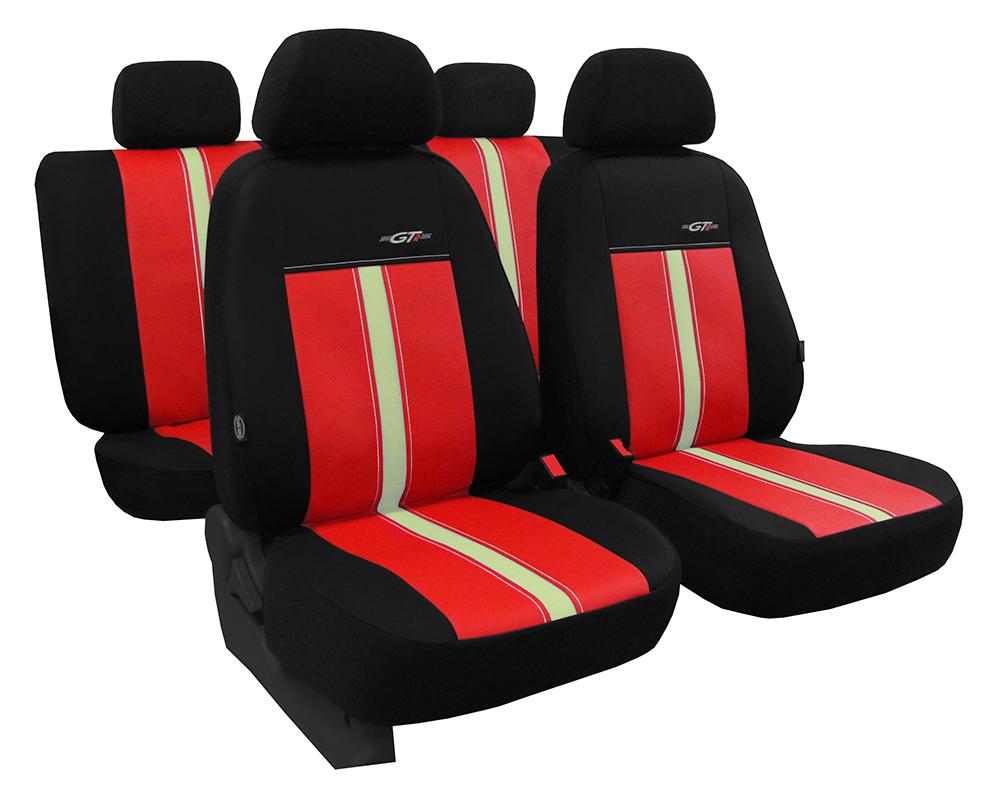 Autopotahy kožené GTR červeno béžové