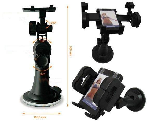 Luxusní držák navigace  a PDA s  nastavitelným ramenem a přisavkou