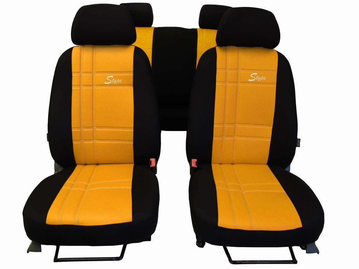 Autopotahy S-TYPE ALCANTARA žluté