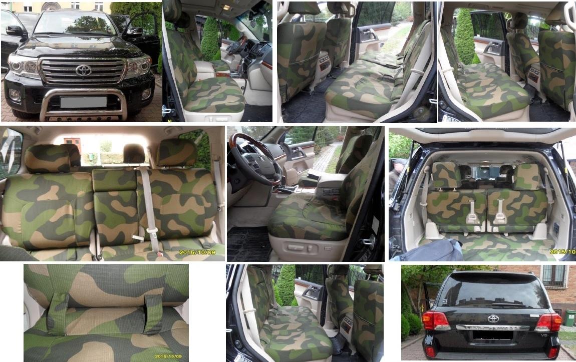 Autopotahy TOYOTA LAND CRUISER V8, 7 míst,  MODEL 2016, ARMY styl