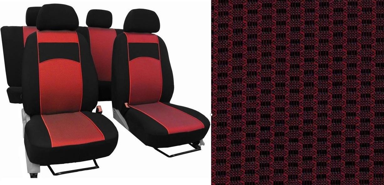 Autopotahy VW TIGUAN II COMFORTLINE, od r. v. 2016, VIP červené