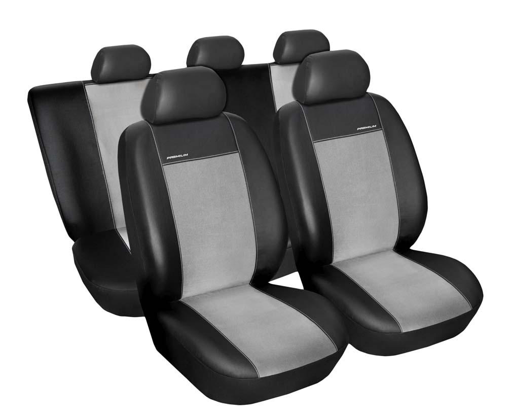Autopotahy Citroen C4 II, 5 dveř, od r. 2011, Eco kůže + alcantara šedé