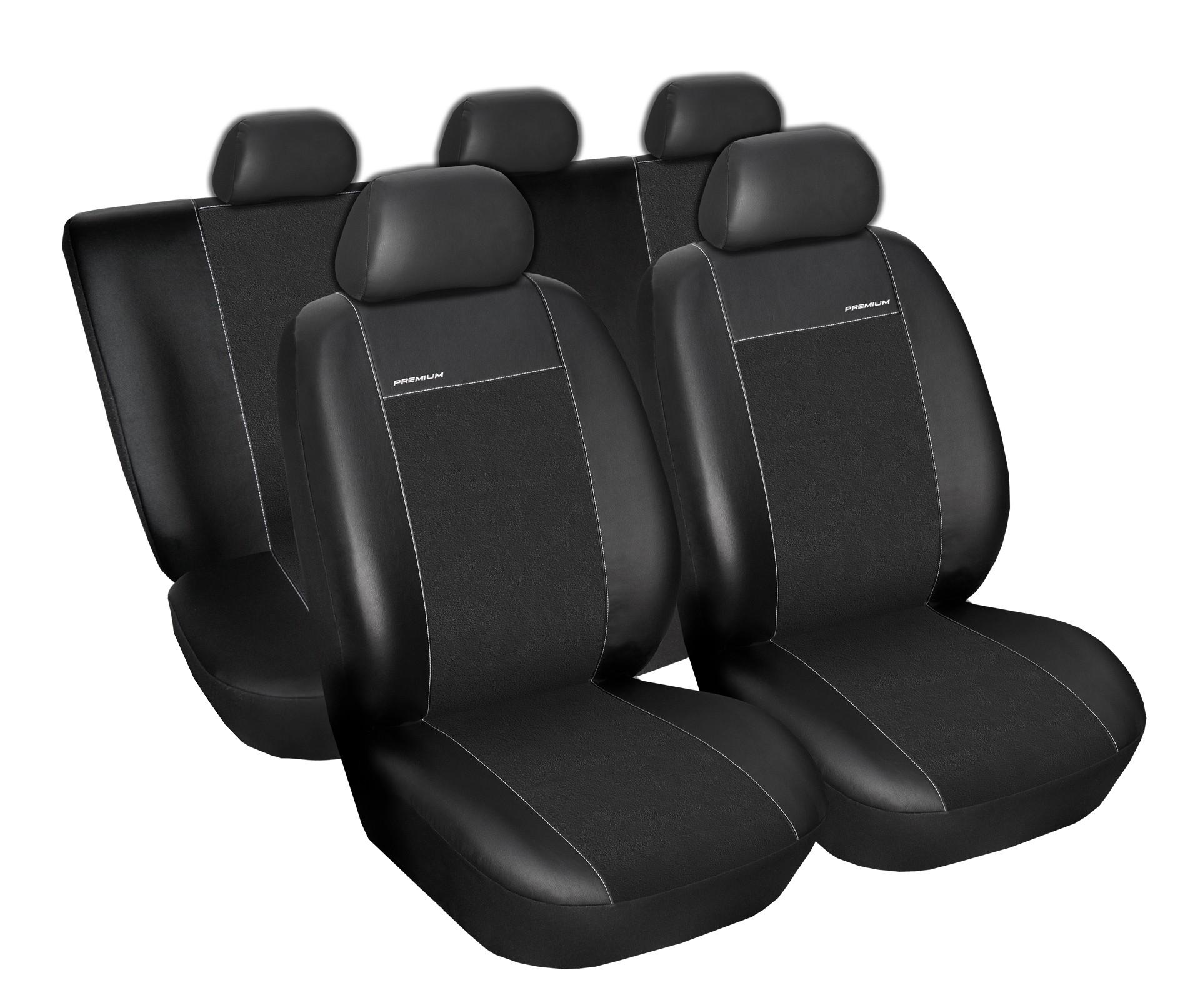 Autopotahy Dacia Duster I, od r.v. 2010-2013, Eco kůže + alcantara černé