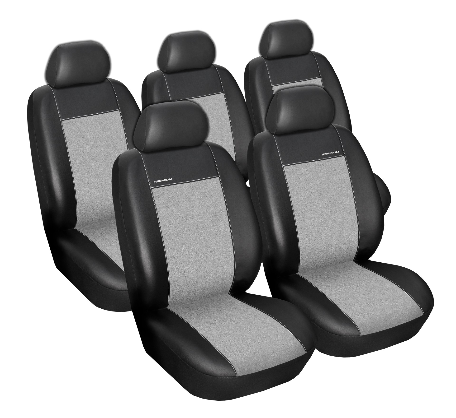 Autopotahy Ford C MAX, od r. 2003-2010, 5míst, Eco kůže + alcantara šedé