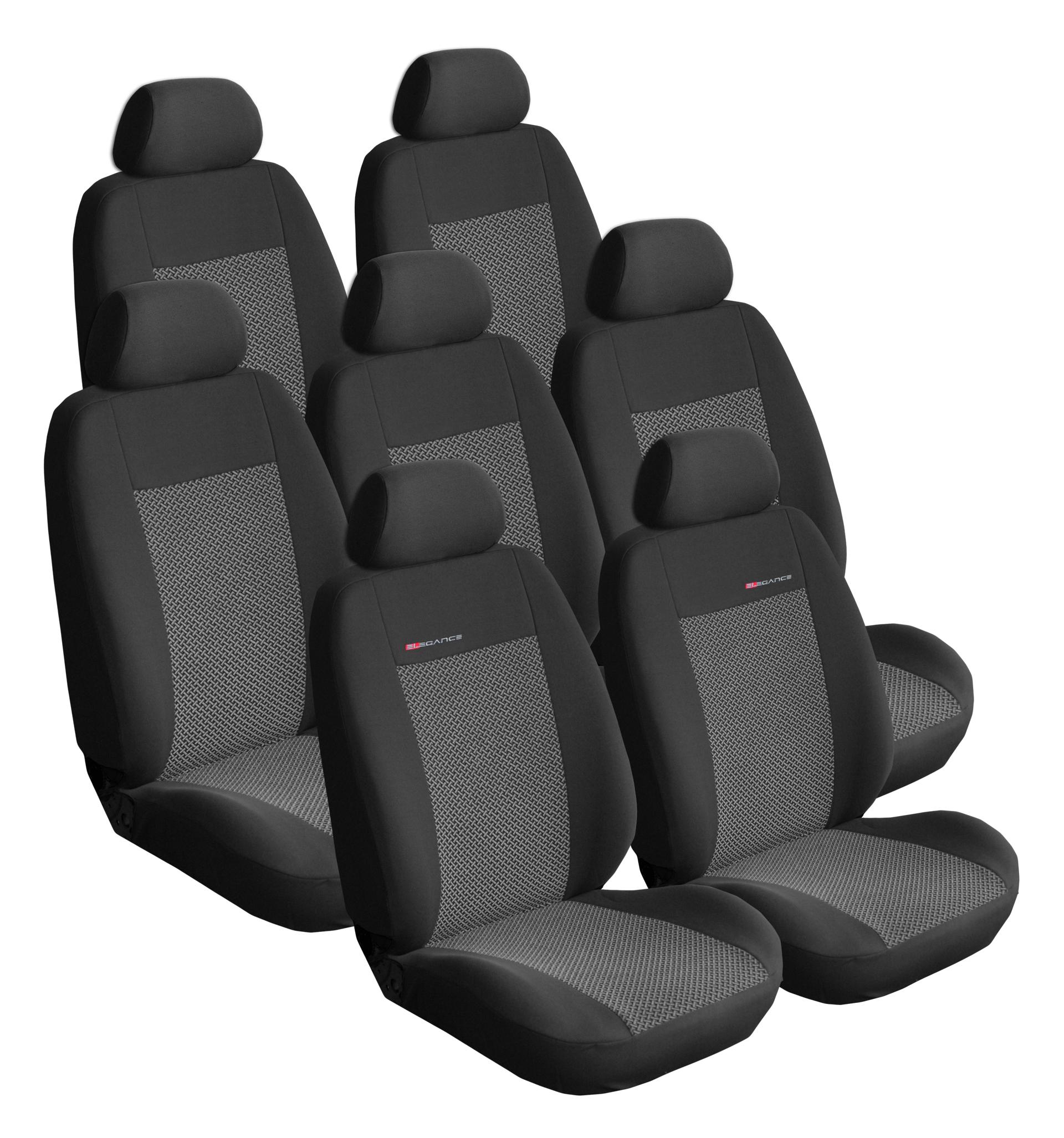 Autopotahy Citroen C4 Picasso II, od r.2010, 7 míst, šedo černé