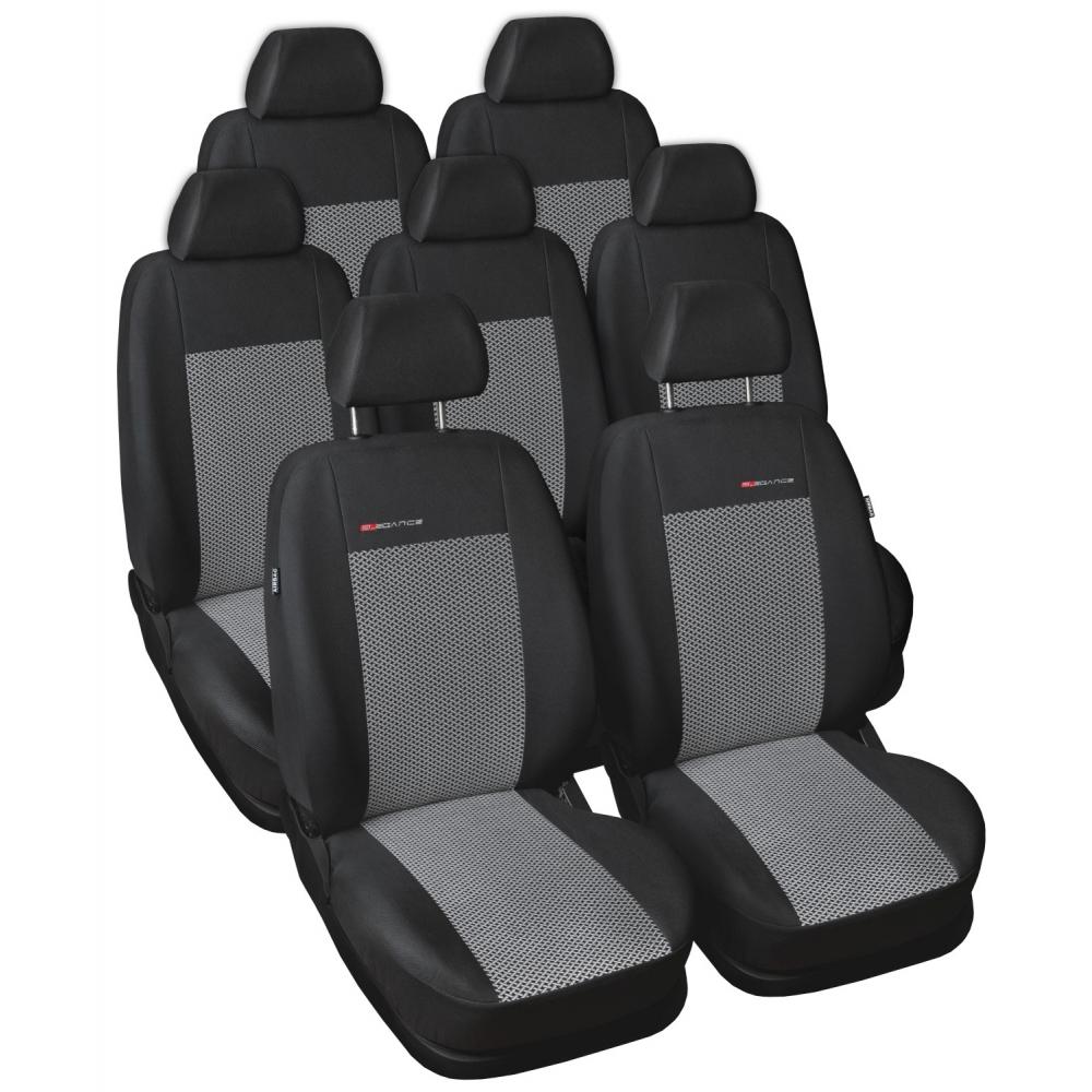 Autopotahy Volkswagen Sharan, od r. 1994-2010, 7 míst, šedo černé
