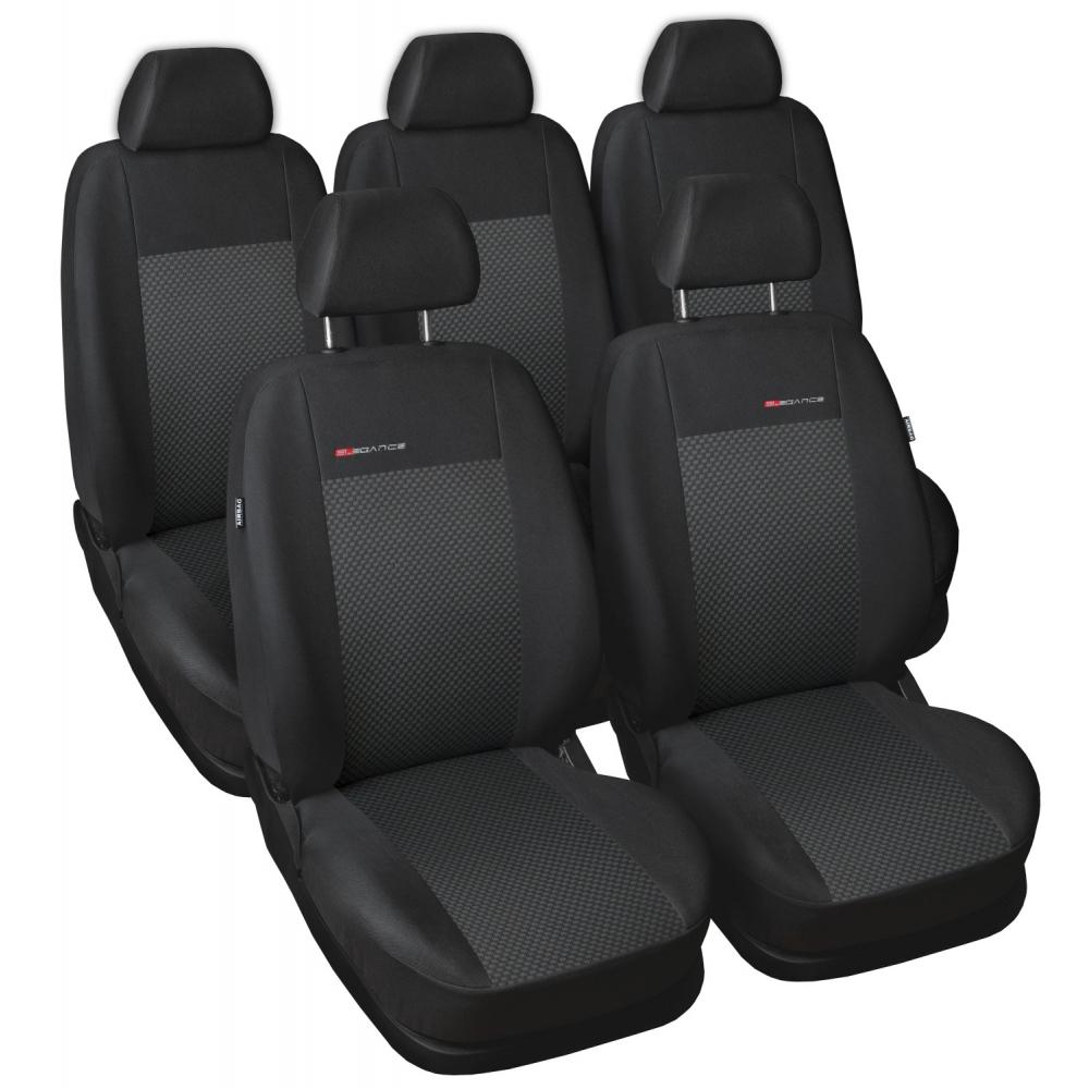 Autopotahy Volkswagen Sharan II, od r. 2010, 5 míst, černý