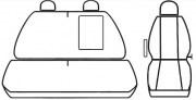 thumb Autopotahy FIAT DUCATO II, 3 místa, od r. 2006, Dynamic žakar tmavý