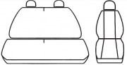 thumb Autopotahy Opel Movano, 3 místný, od r. 1998, Eco kůže + alcantara černé