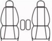 thumb Autopotahy PEUGEOT PARTNER II, 2 místa, od r. 2008, Dynamic žakar tmavý