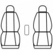 thumb Autopotahy Volkswagen CADDY III, 2 místa, od r. 2003, AUTHENTIC DOBLO, Matrix šedý