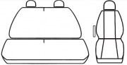 thumb Autopotahy Renault Trafic III, 3 místa, nedělená dvojlavice, od r. 2014, antracit