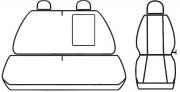 thumb Autopotahy Volkswagen Crafter, 3 místný, od r. 2006, Eco kůže + alcantara šedé