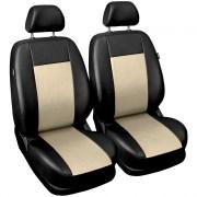 thumb Autopotahy COMFORT kožené, sada pro dvě sedadla, béžové
