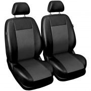 thumb Autopotahy COMFORT kožené, sada pro dvě sedadla, šedé