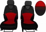 thumb Autopotahy Active Sport kožené s alcantarou, sada pro dvě sedadla, červené