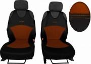 thumb Autopotahy Active Sport kožené s alcantarou, sada pro dvě sedadla, hnědé