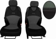 thumb Autopotahy Active Sport kožené s alcantarou, sada pro dvě sedadla, světlešedé