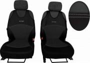 thumb Autopotahy Active Sport kožené s alcantarou, sada pro dvě sedadla, tmavošedé