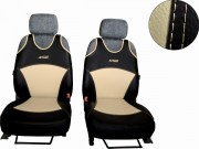 thumb Autopotahy Active Sport kožené, sada pro dvě sedadla, béžové