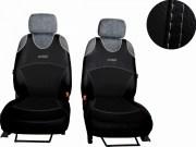thumb Autopotahy Active Sport kožené, sada pro dvě sedadla, černé