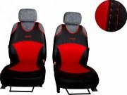 thumb Autopotahy Active Sport kožené, sada pro dvě sedadla, červené